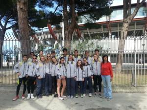 squadra femminile e maschile del Liceo